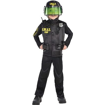 Amazon.com: Infantil Oficial de SWAT disfraz de tamaño ...