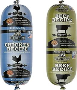 Redbarn Dog Food Rolls Variety Bundle - 2 Flavors (Beef and Chicken) - 2 Rolls Total (2lb 3oz Each)