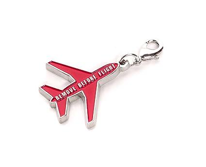 REMOVE BEFORE FLIGHT de Metal Llavero con avión Silueta y ...