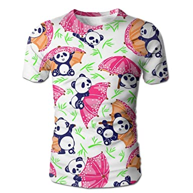 86f56277daf Amazon.com  Men s T-shirtsFun Panda 3D Full Printed Tees Short Sleeve Tops  Crew Neck Summer Shirts  Clothing