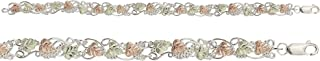 product image for Black Hills Silver Bracelet with 12k Rose and Green Leaves