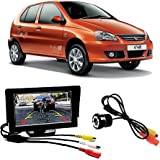 Fabtec Premium Quality 4.3 inch Full Hd Dashboard Screen with (IR) Infra Red Night Vision Reverse Parking Camera for New Tata Indica V2