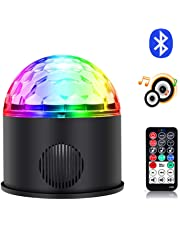Disco Ball Party Light Bluetooth Speaker, 2018 Newest 9 Color USB Sound Activated LED Magic Stage Lighting Strobe Light with Remote Control for Kids Gift Dancing KTV Home Birthday Wedding