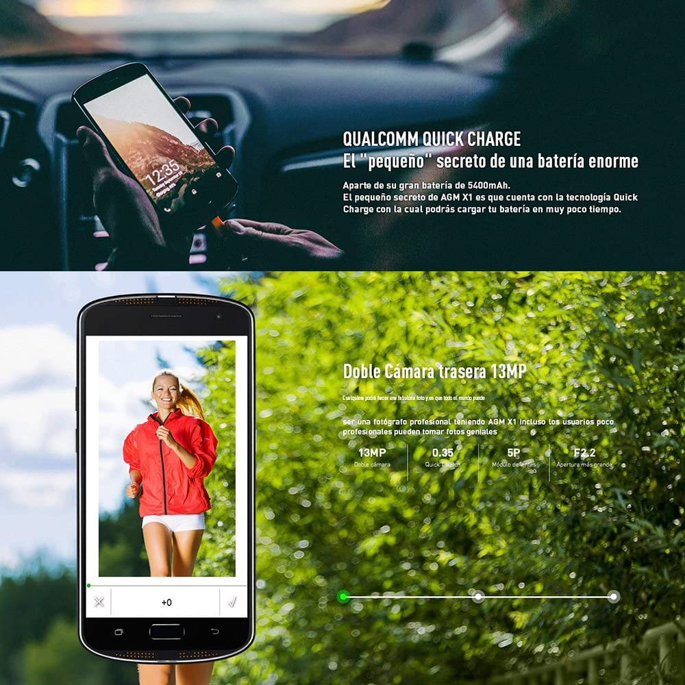 AGM X1 Smartphone 4G IP68 Impermeable Antigolpes Anti-Polvo ...