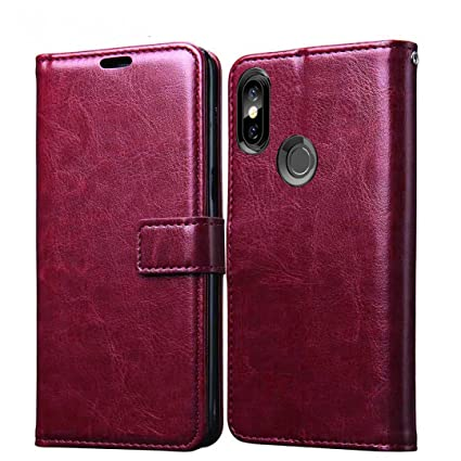 the latest 61a7b 274ae XORB Redmi Y2 Flip Cover Leather Case Premium Luxury Revel Touch Leather  Cover for Redmi Y2 (Cherry)