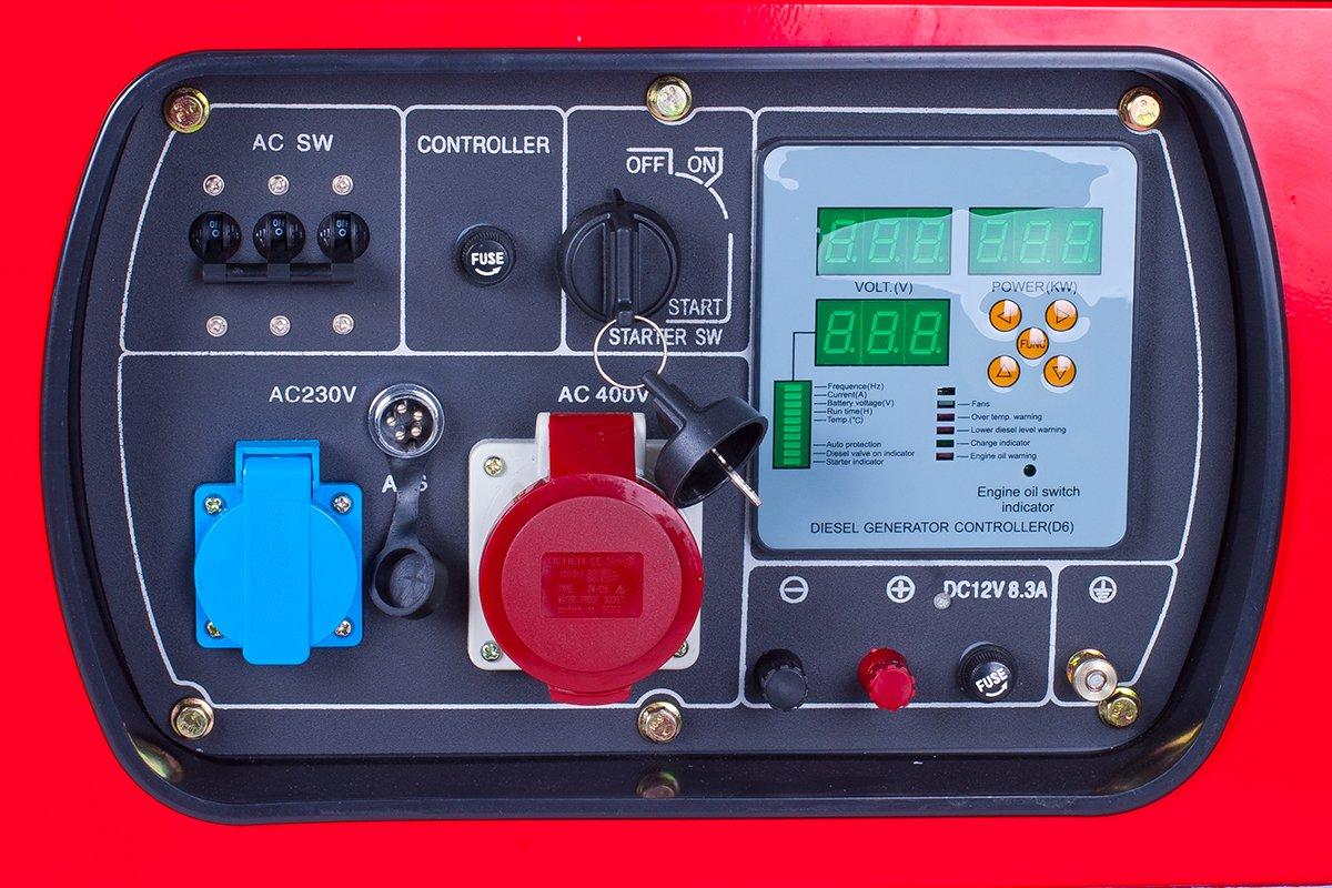 Holzer Stromerzeuger 15kva 400v Diesel Hz15000lta3 Prime Genset Pr6500cl 5000watt Baumarkt