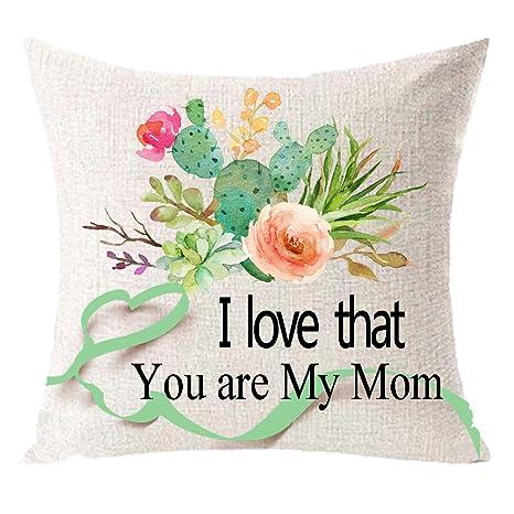 I Love que eres mi mamá con cactus guirnalda un buen regalo ...