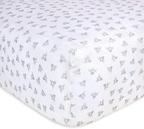 BABY FITTED COT BED SHEET PRINTED 100/% COTTON MATTRESS 140x70cm Zoo Green