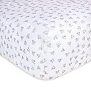 Burt's Bees Baby - Fitted Crib Sheet, Girls & Unisex 100% Organic Cotton Crib Sheet for Standard Crib and Toddler Mattresses (Heather Grey Honeybee Print)