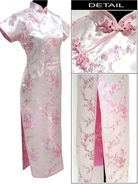 Amazon.com: Plus Size 4XL 5XL 6XL Chinese Women Dress Silk ...