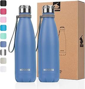 koodee 17 oz Stainless Steel Water Bottle, Double Wall Vacuum Insulated Sports Water Bottle,PBA Free