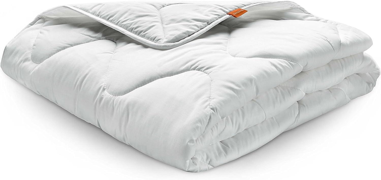 blanc 100/% microfibre sleepling 194479 b/éb/é set pour lit de b/éb/é couette 4 saisons pour toute lann/ée 100 x 135 cm et oreiller plat 40 x 60 cm
