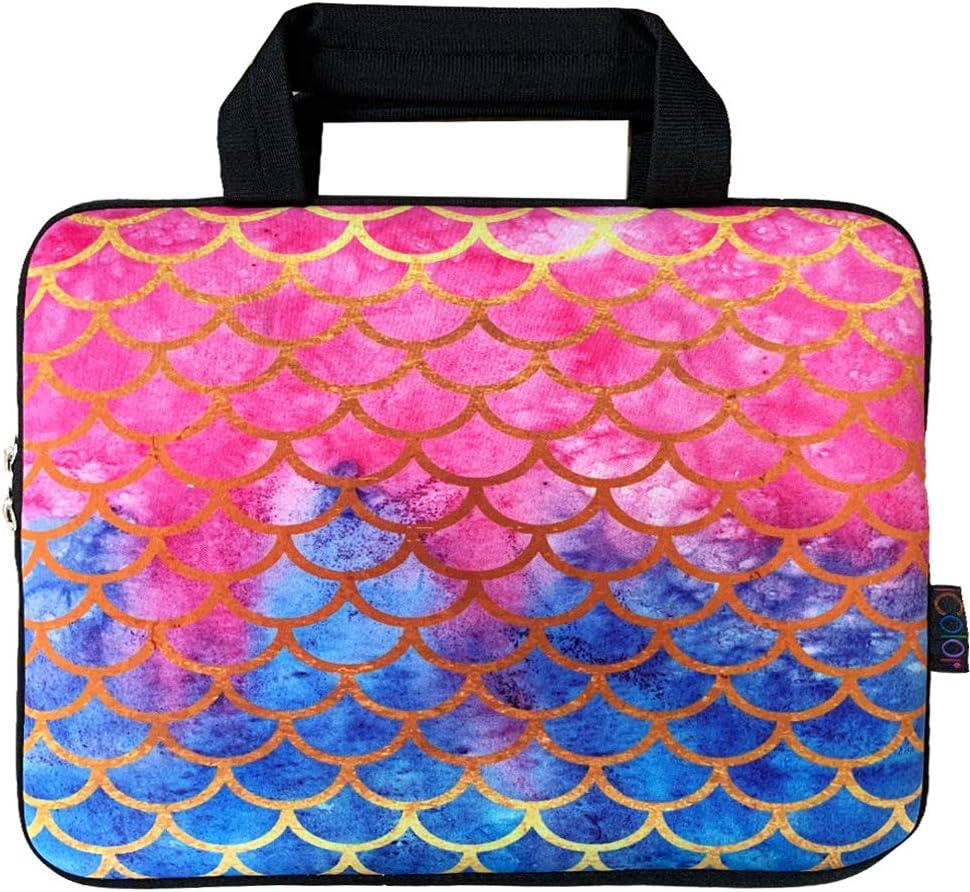 Color : Magenta Carry Tablets Bag /& Covers Double Pocket Zip Handbag Laptop Bag for MacBook Air 11.6 inch