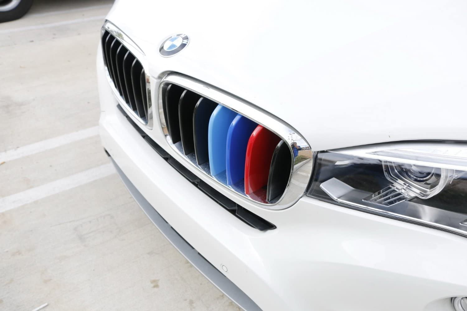 13-16 3 Series 11-Beam Standard Grill E-Bro Colored Exact Fit Grille Insert Trims For BMW