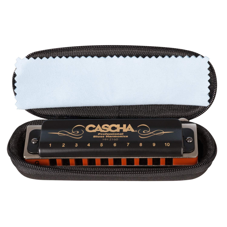 instrument de musique pour adultes et d/ébutants avec /étui harmonica blues diatonique CASCHA Professional harmonica en sol majeur