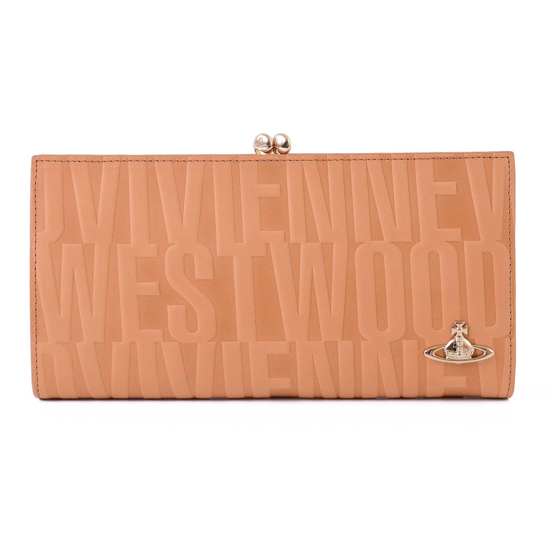 (ヴィヴィアンウエストウッド) Vivienne Westwood ブライダルボックス 口金 長財布 レザー がま口 ロング ウォレット パース B07BDDBZGYベージュ Free