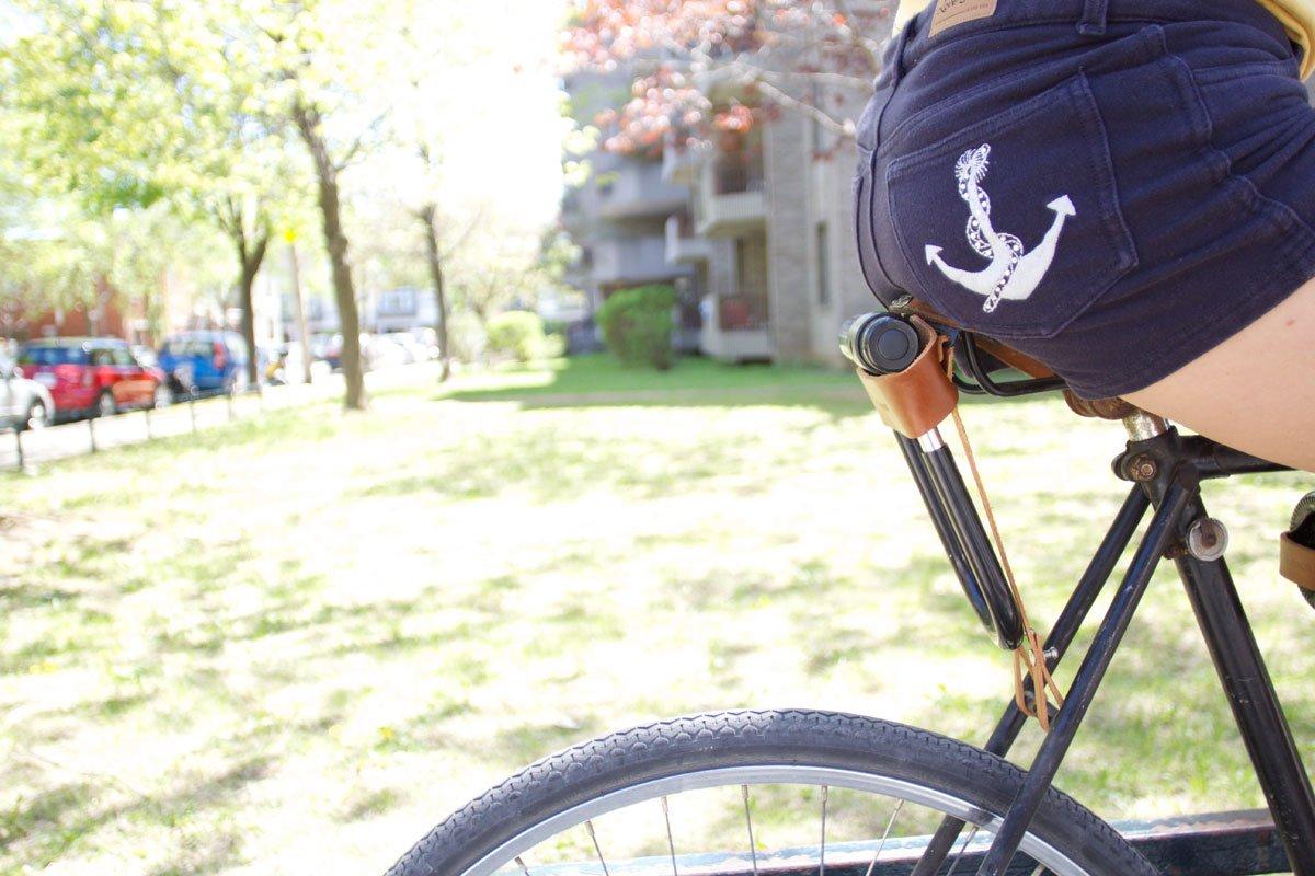 Pelle Marrone Chiaro Oopsmark Fondina U-Lock per lucchetti per Bicicletta Kryptonite