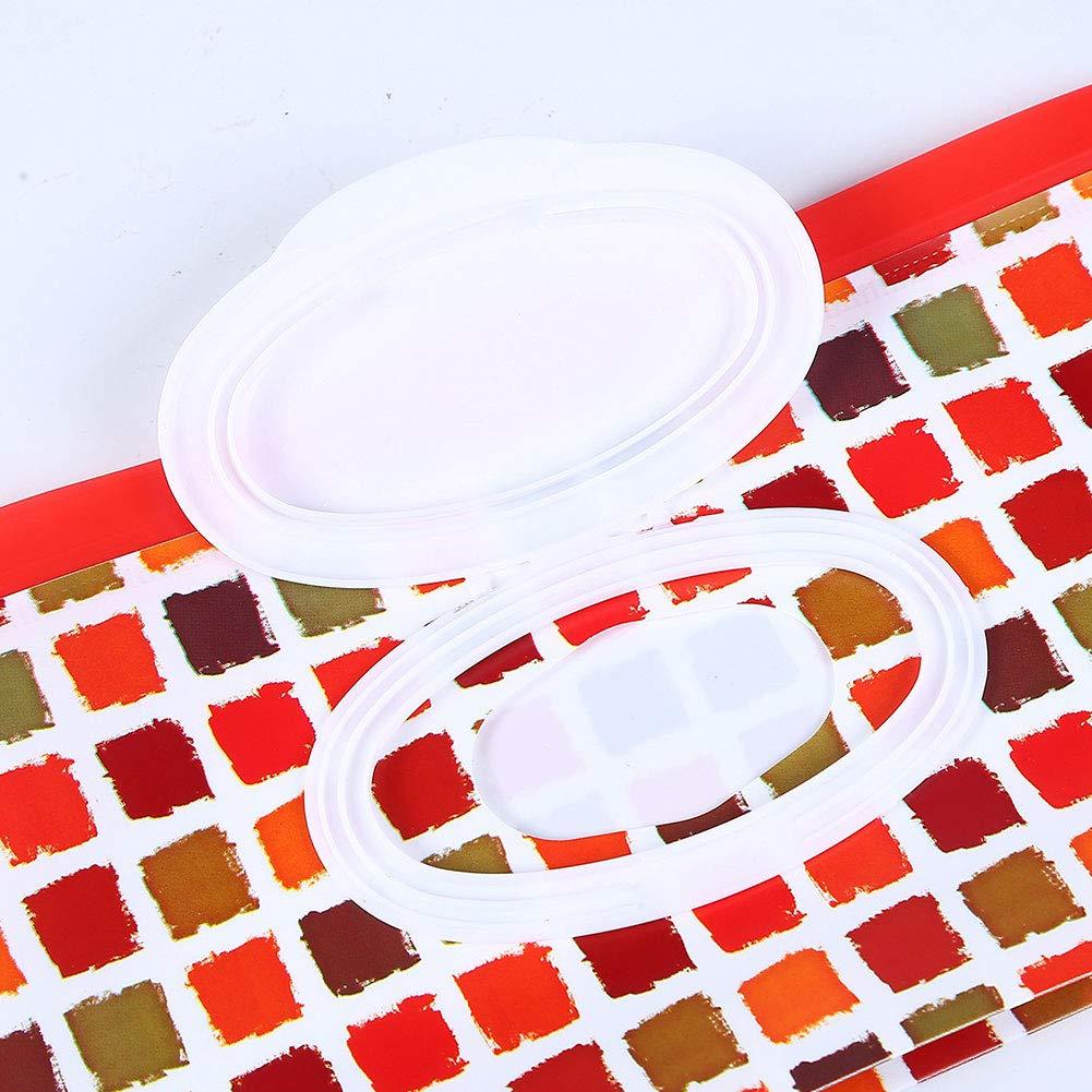 port/átil rellenable para pa/ñales toallitas h/úmedas dispensador de toallitas de viaje bolsa de embrague random Bolsa de toallitas h/úmedas para beb/é