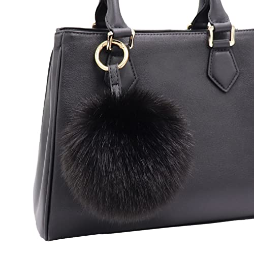 5cf57e06eda3 Aiphamy Faux Fur Pom Pom Keychain Purse Bag Charm Fluffy Ball Key Chain for  Women (