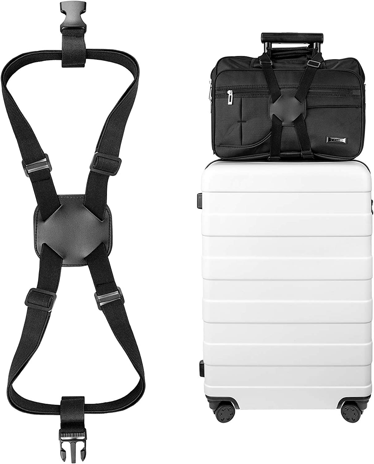 Luxebell Add A Bag Luggage Straps, Suitcase Belt Travel Accessories