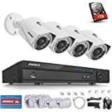 ANNKE 4CH 5.0MP POE NVR Security Camera Systems w/ 1TB HDD,and 4x 2.1Megapixels HD Day/Night Vision IP67 Weatherproof Video Surveillance Camera Compatible with Dahua IP Camera, Support Onvif Version