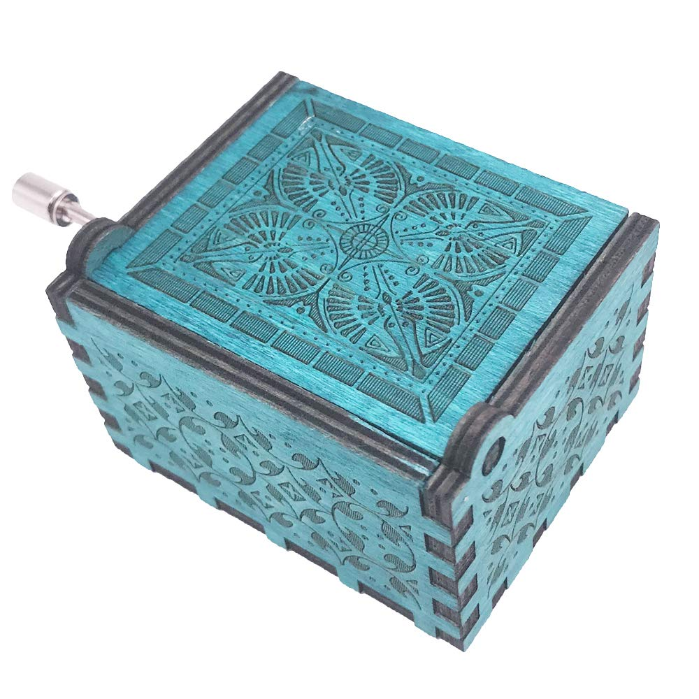 Amelie Music Box Hand Crank Musical Box Carved Wooden,Play The Theme Song of Amelie,Blue Shenzhen Youtang Trade Co. Ltd TSAML-blue