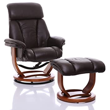 Admirable The Saigon Premium Genuine Leather Swivel Recliner Chair Footstool Chocolate Short Links Chair Design For Home Short Linksinfo