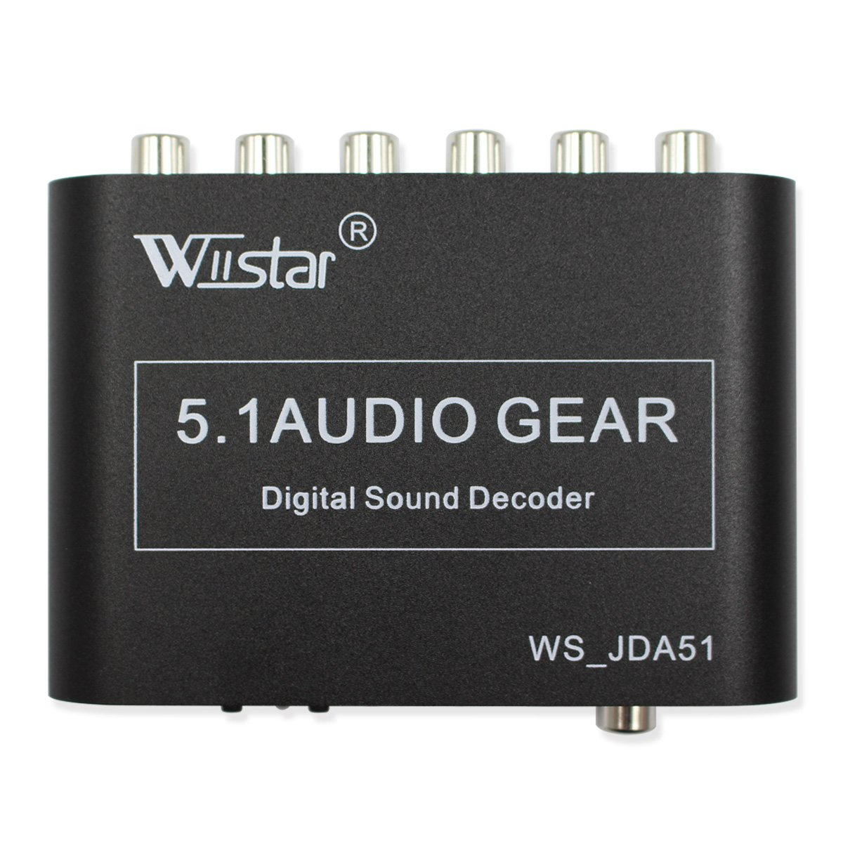 Wiistar 5.1 Audio Decoder Digital AC3 Optical to Stereo Surround Analog HD 2 SPDIF Ports HD Audio Rush for HD Players/DVD / XBOX360