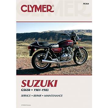amazon com clymer repair manual m364 manufacturer electronics rh amazon com suzuki gs 650 service manual pdf 1982 suzuki gs 650 service manual