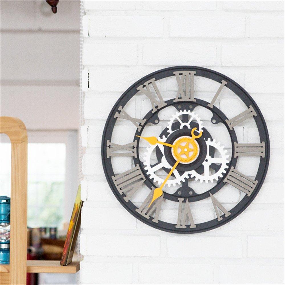 Wall Roman Digital clock European industry retro individuality creative clock living room bedroom clock A by RFVBNM Wall clock (Image #6)