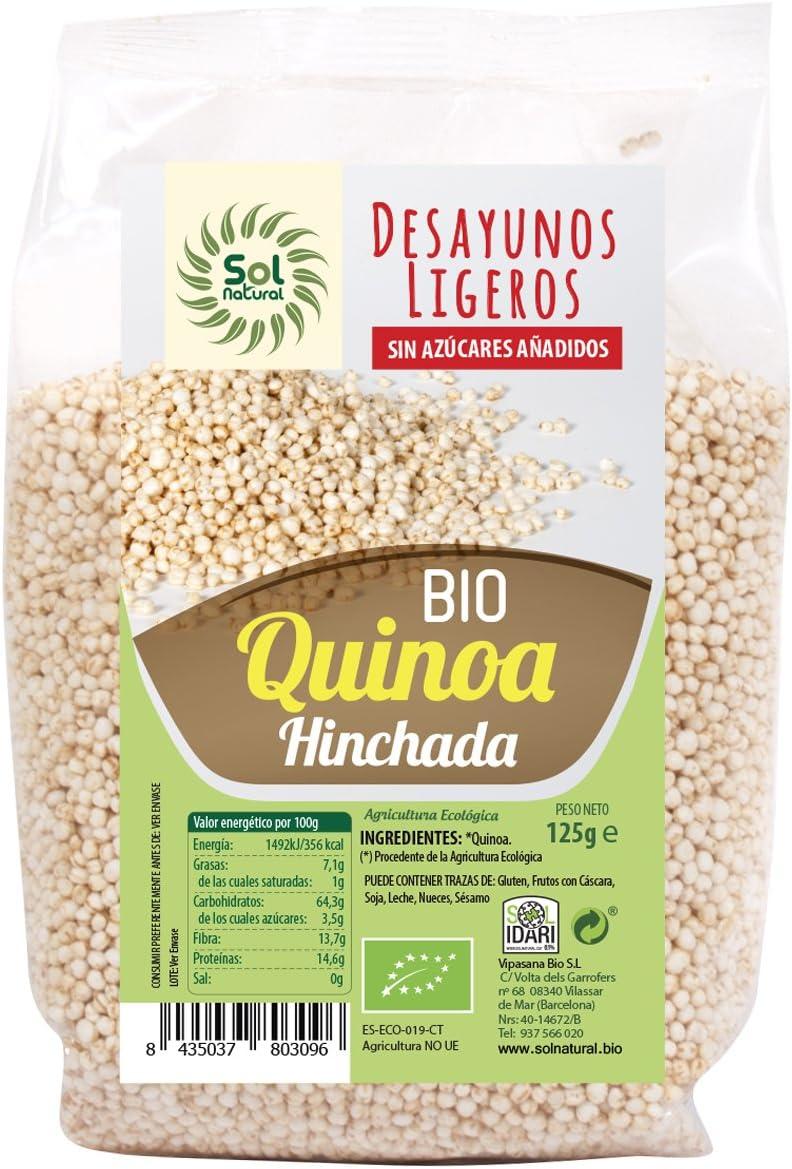 Sol Natural Quinoa Hinchada - Paquete de 12 x 125 gr - Total ...