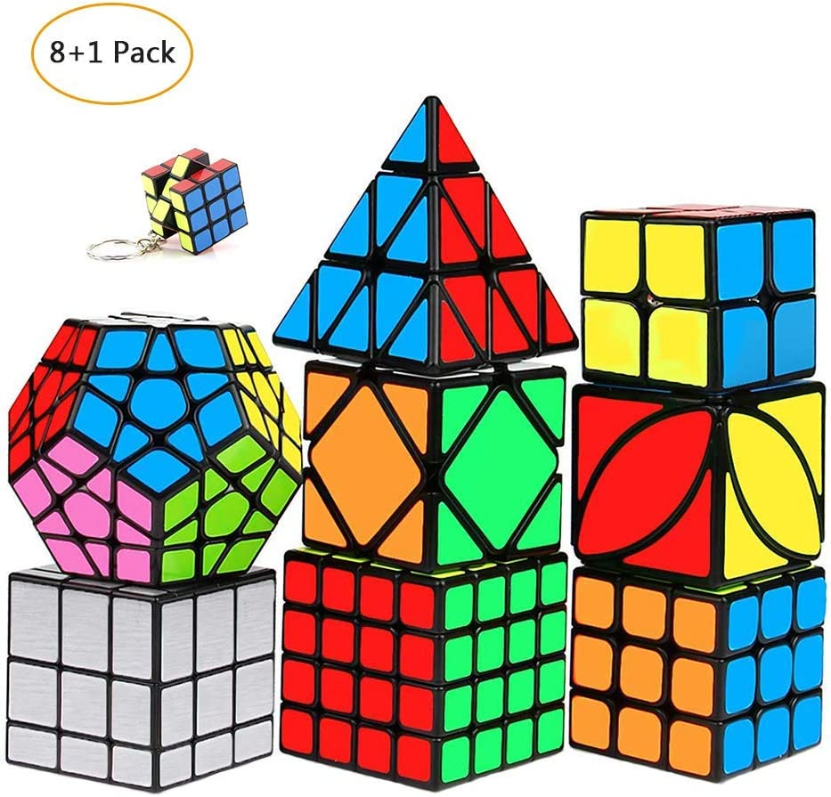 mimisasa Speed Cubes Set 9 Pack Speed Cube Pack 2x2 3x3 4x4 Pyramid Megaminx Mirror Skew Cube: Amazon.es: Juguetes y juegos