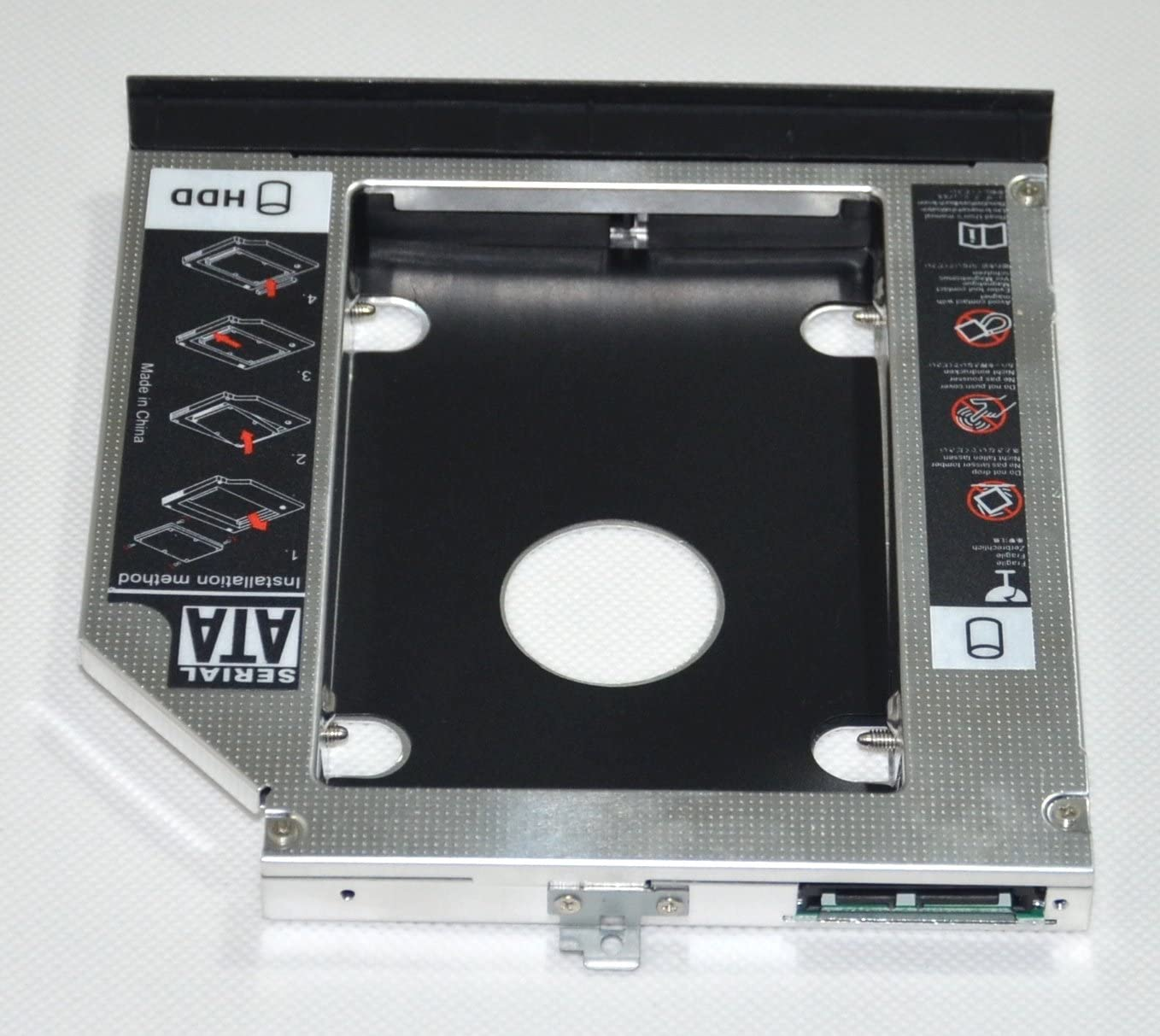 Faceplate bezel and Mounting Bracket DY-tech 2nd HDD SSD Hard Drive Enclosure Caddy for Dell Latitude E5520 E5420