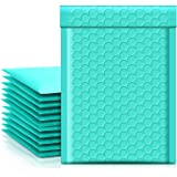 Metronic Teal Bubble Mailers 4x8 Shipping Bags, 50 Pack Poly Bubble Mailers, Padded Envelopes, Packaging for Small Business,