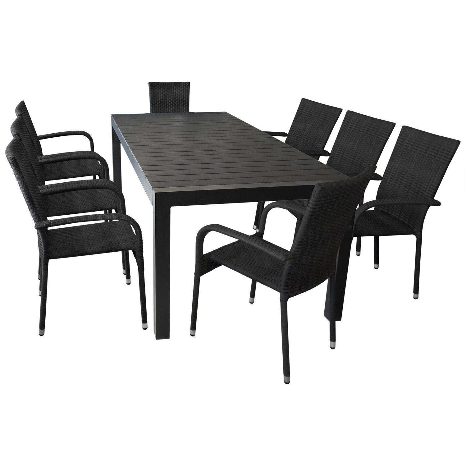elegante sitzgruppe gartengarnitur gartenm bel terrassenm bel set 9 teilig ausziehtisch 224. Black Bedroom Furniture Sets. Home Design Ideas