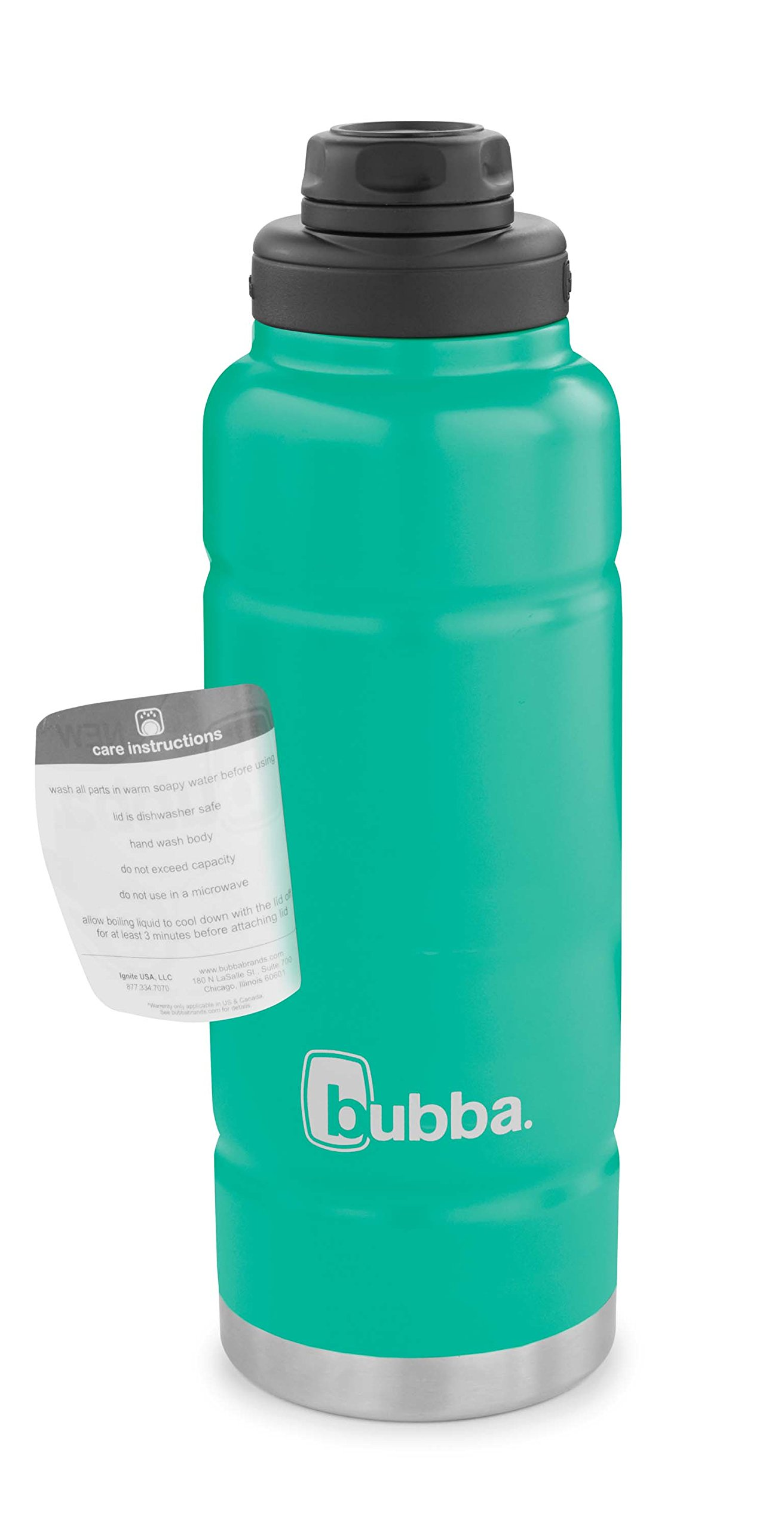 Bubba Trailblazer Vacuum-Insulated Stainless Steel Water Bottle, 40 oz, Rock Candy by bubba (Image #6)