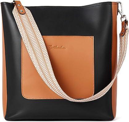 BOSTANTEN Handbags for Women Genuine Leather Designer Hobo Tote Purses Shoulder Crossbody Bucket Bags