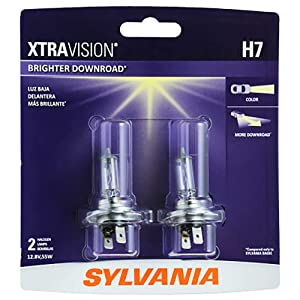 SYLVANIA - H7 XtraVision - High Performance Halogen Headlight Bulb, High Beam, Low Beam and Fog Replacement Bulb (Contains 2 Bulbs)
