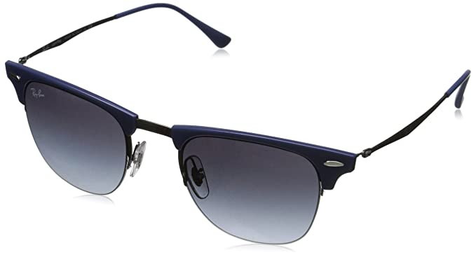 cd3c772fb4 Image Unavailable. Image not available for. Color  Ray-Ban CLUBMASTER LIGHT  RAY RB8056 - 165 8G Sunglasses Blue Gunmetal 51mm