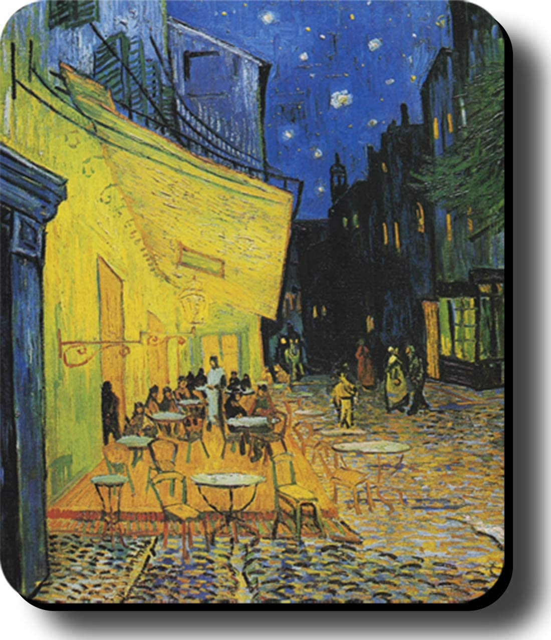 Computer Mouse Pad Art Print Painting Van Gogh Cafe Terrace 9.25 x 7.75 x 1//8 in Thick Non Slip Backing