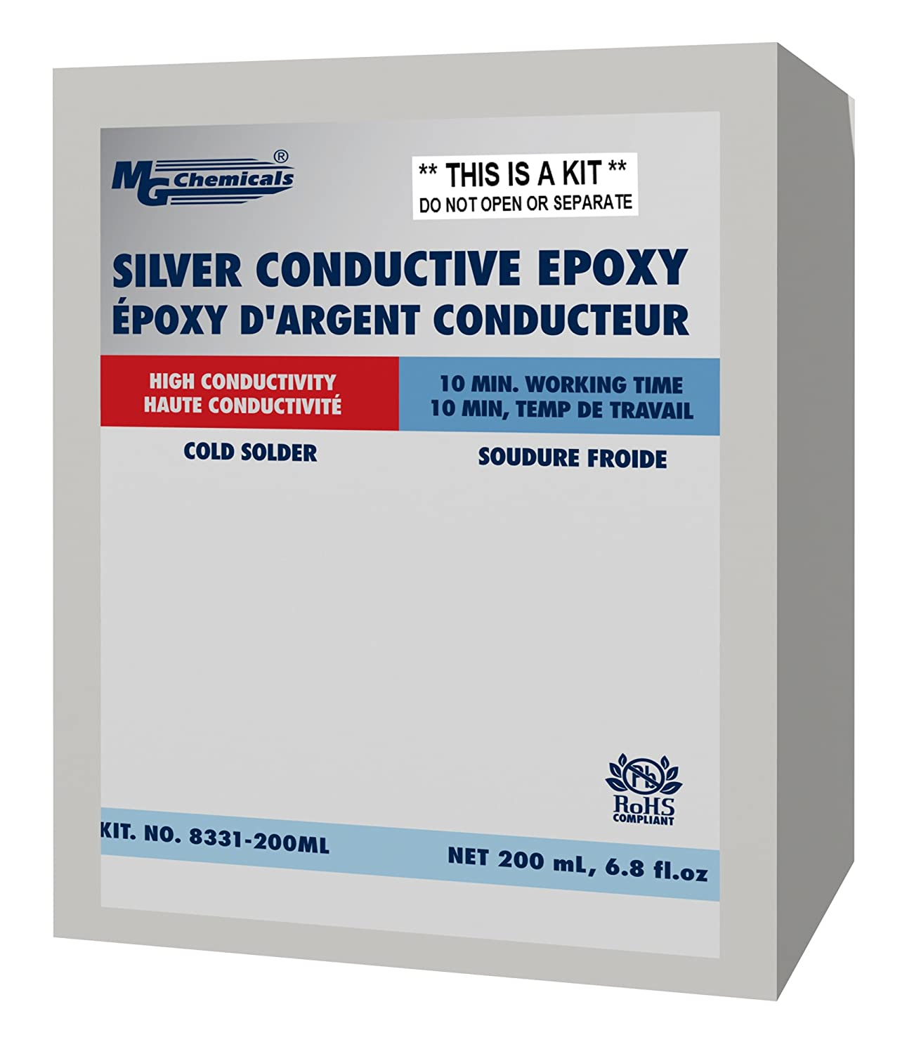 MG Chemicals 8331-14G Silver Epoxy Adhesive - High Conductivity, 10 ...