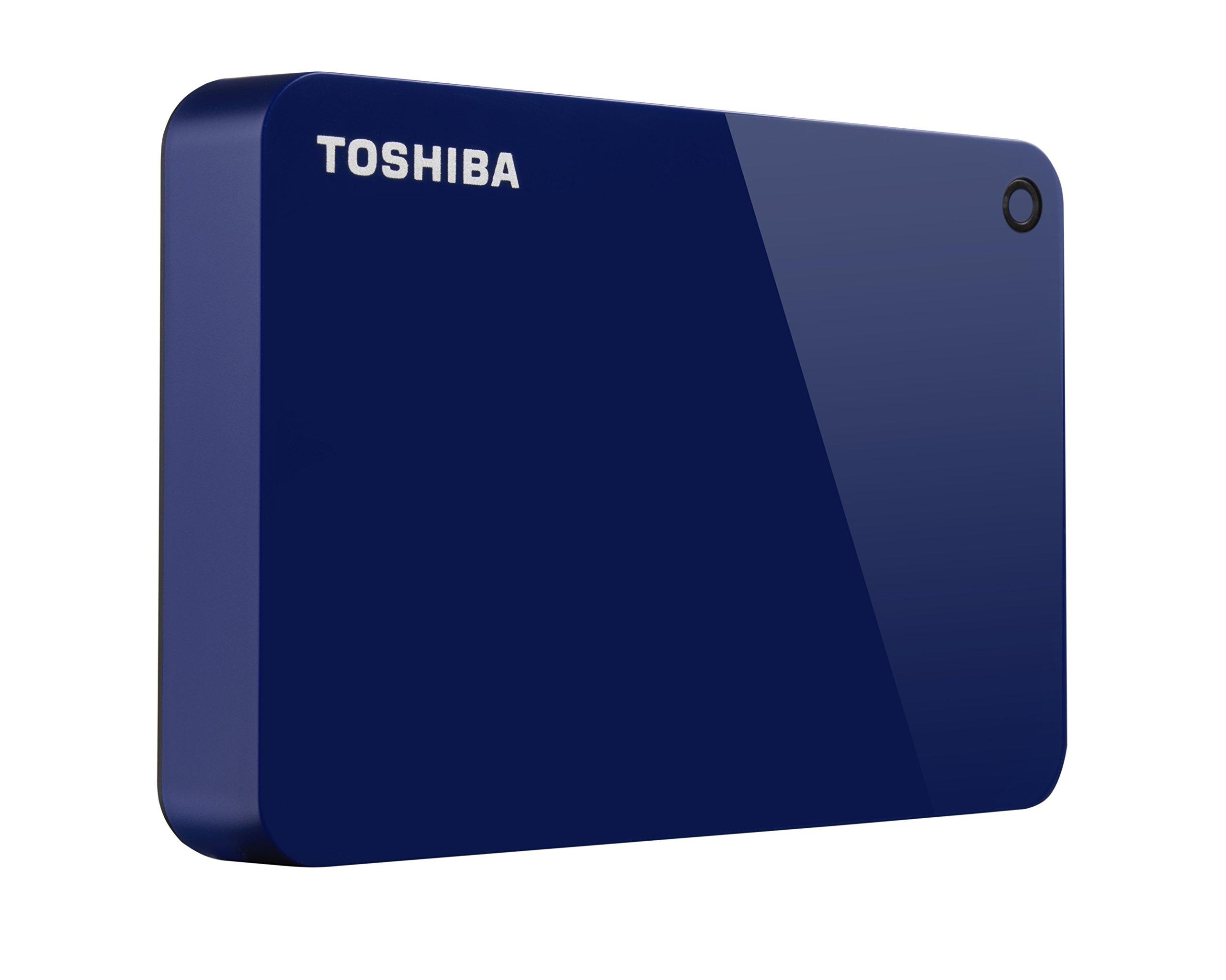 Toshiba Canvio Advance 4TB Portable External Hard Drive USB 3.0, Blue (HDTC940XL3CA) by Toshiba