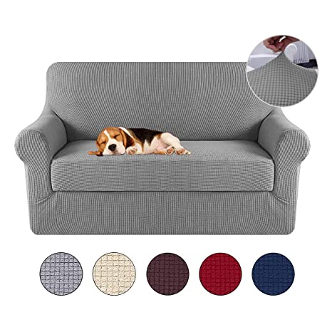KOBWA Cubre para Silla Fundas de Sofa Protector de sofá o sillón, Funda de Sofá Antideslizante Anti-Sucio para Mascotas Protector de Sofá Muebles, 2 ...