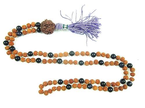 Mogul para Interior diseño del símbolo del rosario de cuentas de Mala Rudraksha Onyx 108 de