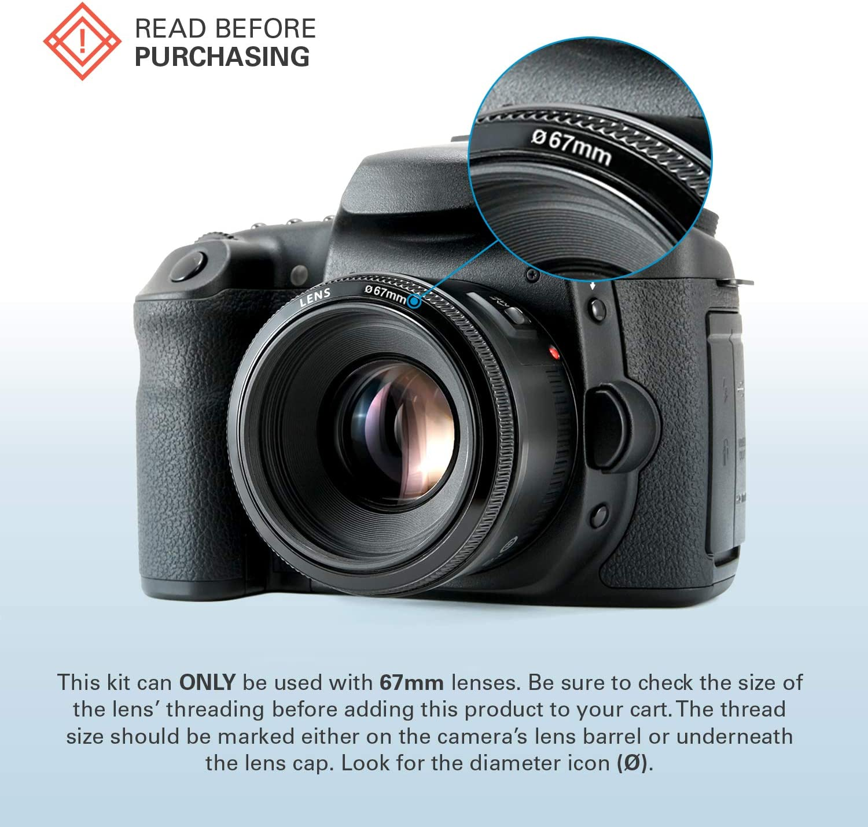 Polaroid Optics 67mm Neutral Density Filter Compatible w// All Popular Camera Lens Models ND 0.9