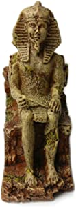 OMEM Reptile Hideouts Cave Decoration Aquarium Decorative Egyptian Pharaoh Sculpture Fish Tank Decoration