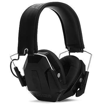 NoiseRider - Auriculares de diadema para disparar con amplificación de sonido y supresión, clipping,