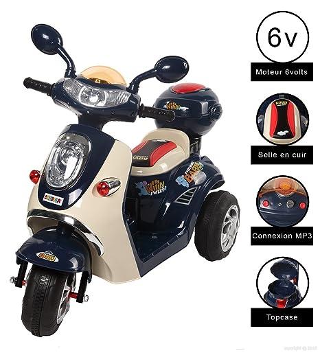 Vespa moto eléctrico 6 V Cristom-® conexión mp3.