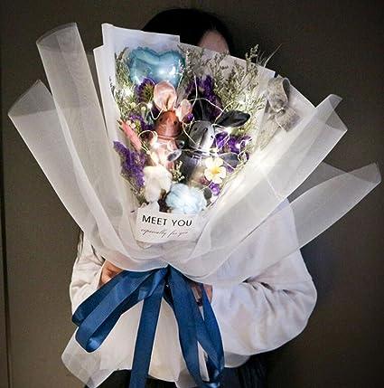 Kelly Harvest House Bouquet Di Fiori Secchi Naturali Con Palloncini