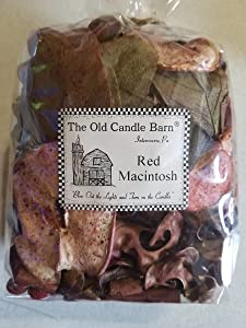 Old Candle Barn Red Macintosh Potpourri Large Bag - Perfect Home Decoration or Bowl Filler - Beautiful Red Macintosh Apple Scent - Made in USA